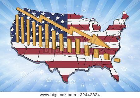 USA nedgång