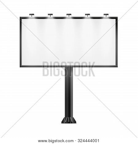 Blank Street Billboard Mockup With White Advertisement Copy Space