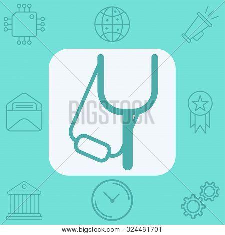 Slingshot Icon Vector, Filled Flat Sign, Solid Pictogram Isolated On White. Symbol, Logo Illustratio