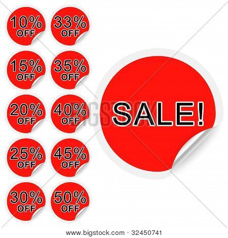 Set Of Discount Labels. Part One