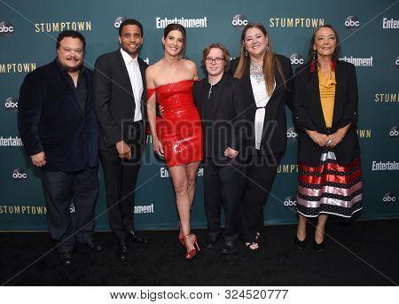 LOS ANGELES - SEP 16:  Adrian Martinez, Michael Ealy, Cobie Smulders Cole Sibus, Camryn Manheim and Tantoo Cardinal arrives for 'Stumptown' Season 1 Premiere on September 16, 2019 in Los Angeles, CA