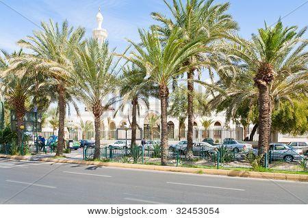 King Hussein Street In Aqaba