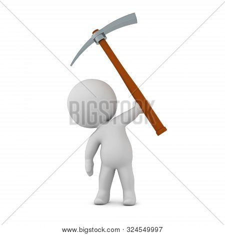 3D Character With Pick-axe
