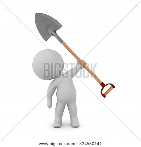 3D Character With Shovel