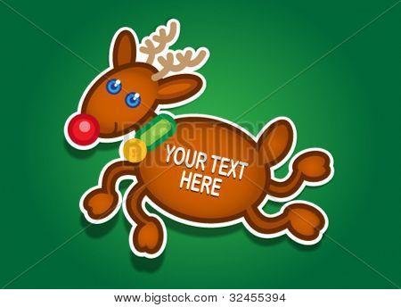 Christmas Reindeer Vector Sticker