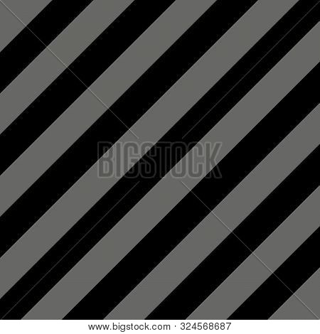 Halloween Pattern Of Repetitive Slanting Strips Of Black And Gray Color. Black And White Slanting St