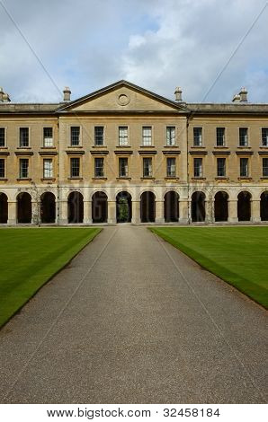 Facade of Magdalen College New Building, Oxford poster