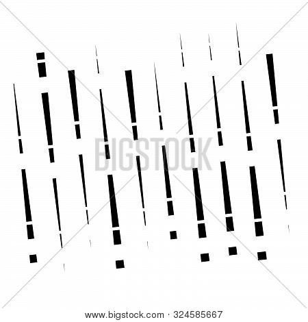 Dashed Dynamic Lines, Stripes Pattern. Random, Irregular Intermittent Streaks Design. Interrupt Vert
