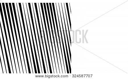 Vertical Parallel Lines Pattern. Dynamic, Random Irregular Stripes. Straight Streaks, Strips Design.