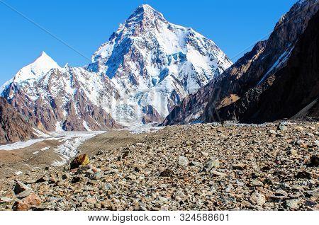 On The Way To The Concordia Iv Peak Near The K2 Mountain