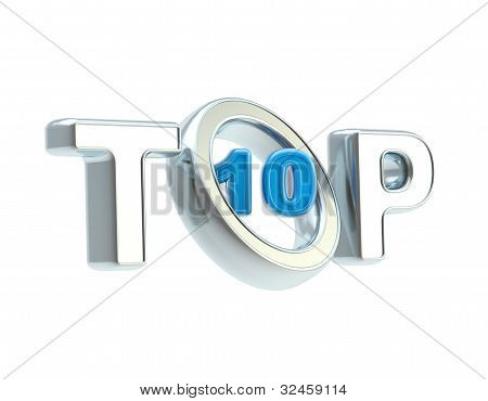 Top-10 emblem symbol isolated