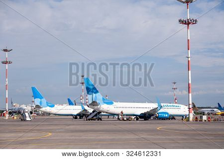 Russia Moscow 2019-06-17 Boeing 737 Pobeda Airlines Russian Company Lowcost Price Arrived To Airport