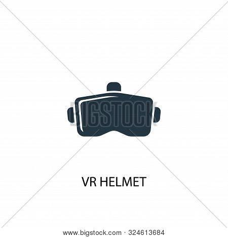 Vr Helmet Icon. Simple Element Illustration. Vr Helmet Concept Symbol Design. Can Be Used For Web