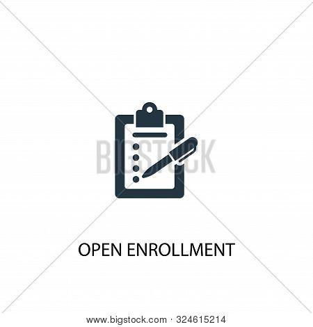 Open Enrollment Icon. Simple Element Illustration. Open Enrollment Concept Symbol Design. Can Be Use