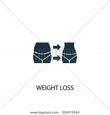 Weight Loss Icon. Simple Element Illustration. Weight Loss Concept Symbol Design. Can Be Used For We