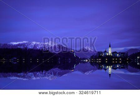 Lake Bled Julian Alps Image Photo Free Trial Bigstock