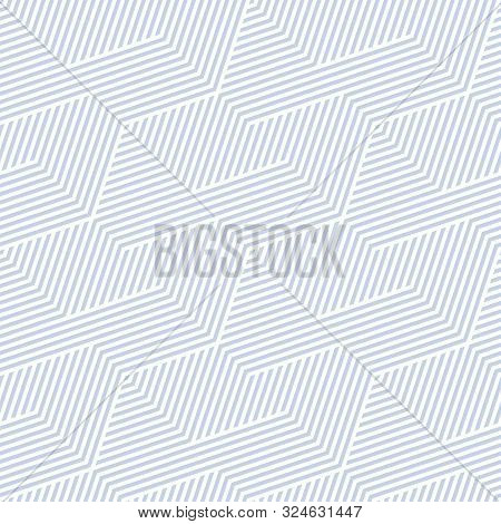 Geometric Lines Seamless Pattern. Simple Vector Texture With Diagonal Stripes, Lines, Chevron, Zigza