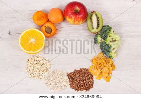 Nutritious Eating Containing Vitamin B3 And Other Minerals, Concept Of Healthy Lifestyle And Nutriti