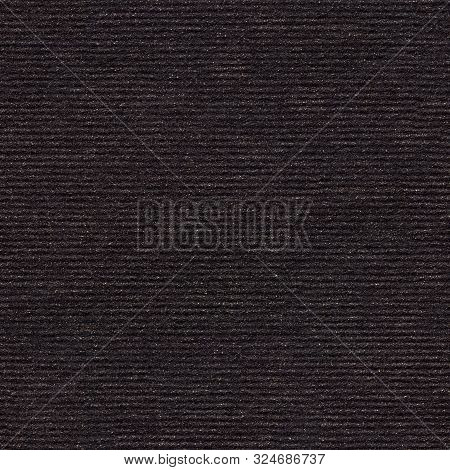 Black Paper Background With Small Golden Glitz. Seamless Square Texture, Tile Ready.