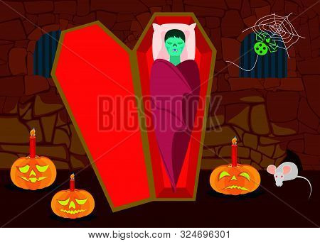 Wall Alcove With Halloween Theme 5 - Eps10 Vector Illustration.