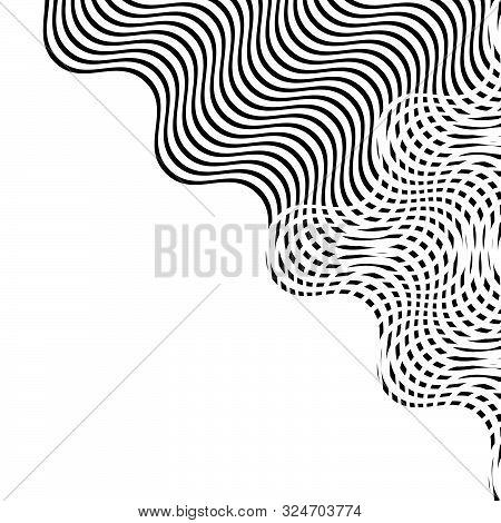 Intersected, Interweaved Irregular Blue Lines, Blue Stripes Grid Pattern. Interlocking, Weaved Curvy