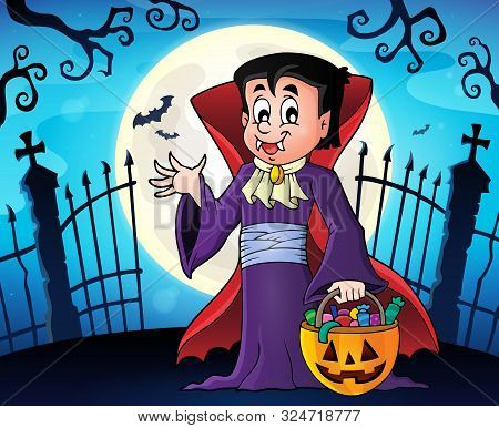 Halloween Vampire Topic Image 1 - Eps10 Vector Picture Illustration.
