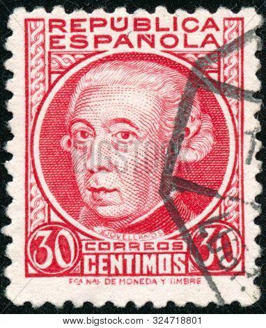 Vintage Stamp Printed In Spain Cirka 1934 Shows Gaspar Melchor De Jovellanos