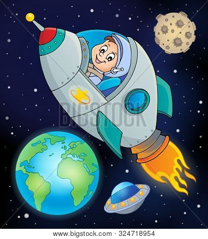 Image With Space Theme 8 - Eps10 Vector Picture Illustration.