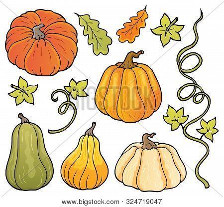 Pumpkins Theme Collection 1 - Eps10 Vector Picture Illustration.