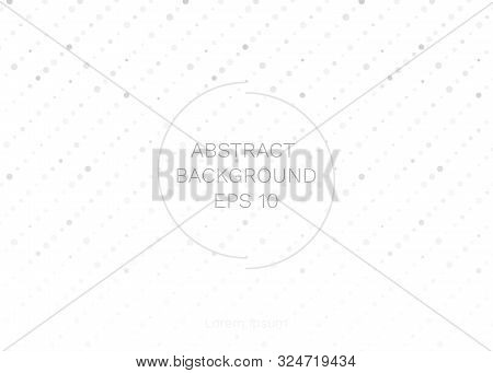 Vector Illustration Of Grey-white Abstract Geometric Background. Innovation Backdrop With Circle Emp