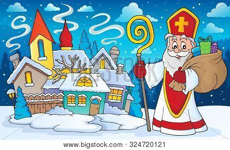 Saint Nicholas Topic Image 6 - Eps10 Vector Picture Illustration.