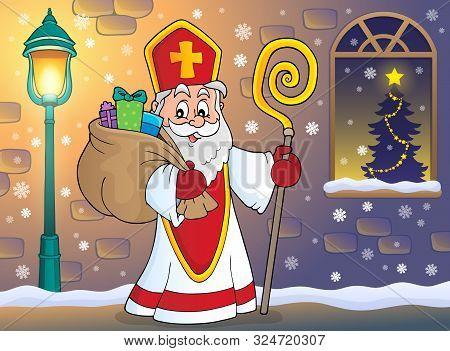 Saint Nicholas Topic Image 7 - Eps10 Vector Picture Illustration.
