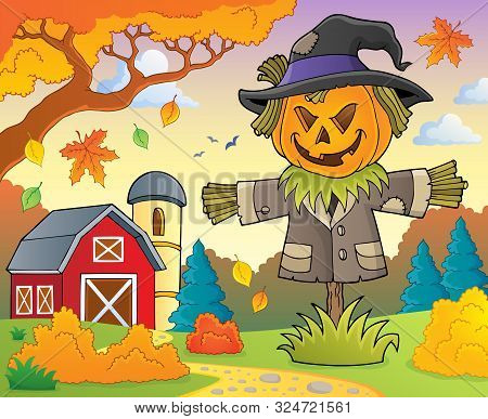 Scarecrow Topic Image 2 - Eps10 Vector Picture Illustration.