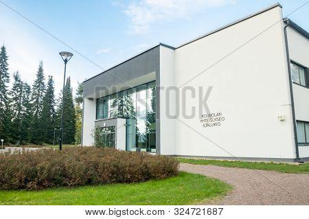Kouvola, Finland - 20 September, 2019: Beautiful Lyceum Building