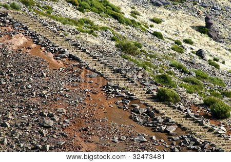 Stone Stairs In Pico Do Arieiro