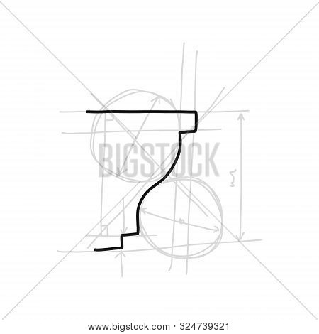 Informative Poster Sketch Moulding Hand Drawn. Gives Surface More Expressive And Neat Look. Decorati