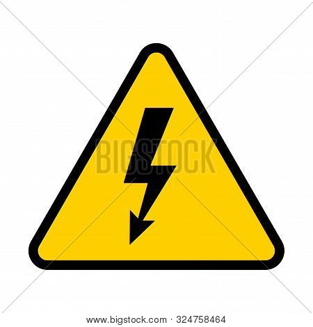 Electrical Hazard Sign. High Voltage Danger Symbol. Vector Illustration