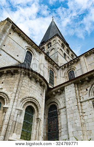 View Of The Historic Abbey Of Saint-georges In Boscherville In Upper Normandy