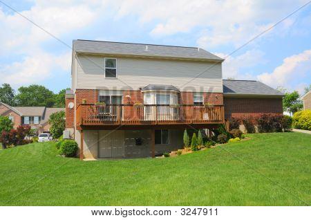 Brick Suburban Home Back Yard