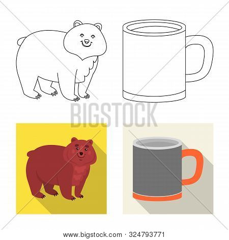 Vector Design Of Cookout And Wildlife Logo. Set Of Cookout And Rest Stock Symbol For Web.