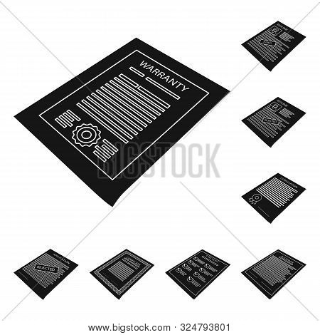 Vector Design Of Publishing And Placard Icon. Set Of Publishing And Stationery Stock Symbol For Web.