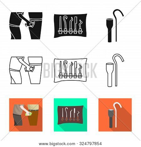 Vector Illustration Of Crime And Steal Symbol. Set Of Crime And Villain Stock Symbol For Web.