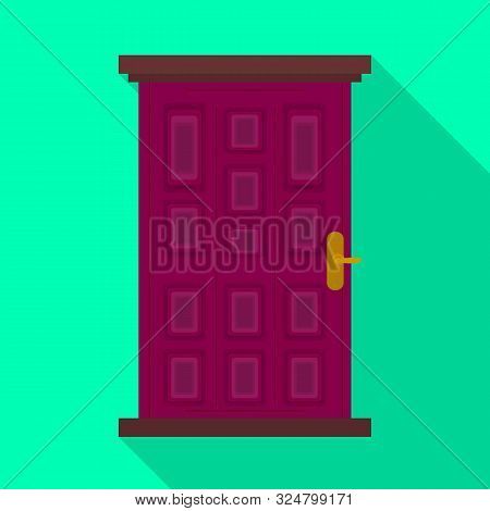 Isolated Object Of Door And Doorway Symbol. Set Of Door And Frame Vector Icon For Stock.