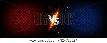 Dark Versus Battle. Mma Concept - Fight Night, Mma, Boxing, Wrestling, Thai Boxing. Vs Collision Of