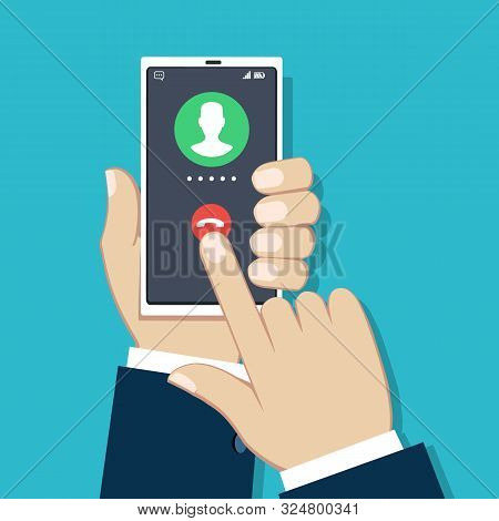 Businessman Phone Call. Business Technology Telephone Calling, Man Mobile Call Communication, Smartp