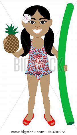 Hawaiian Girl Swimsuit