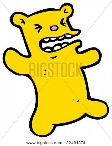 crazy bear cartoon poster