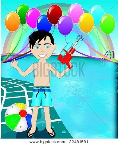 Pool Watergun Boy