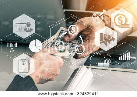 Finance And Money Transaction Technology Concept
