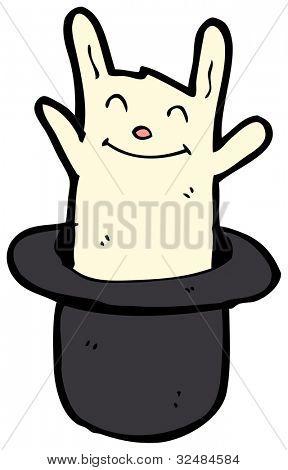 cartoon white rabbit in hat